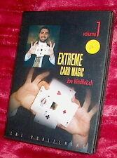 dvd JOE RINDFLEISCH Extreme Card Magic Volume 1 One All Region