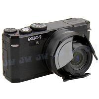 JJC SelfRetaining Auto Open Close Lens Cap for Pentax MX-1 MX1 Camera as O-LC130