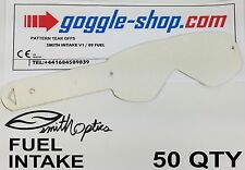 50 qty GOGGLE-SHOP TEAR OFFS to fit SMITH FUEL / INTAKE MOTOCROSS GOGGLES