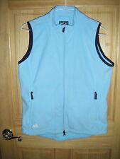 Womens ADIDAS CLIMAPROOF WARM Blue Sleeveless  Fleece Zip Vest Sz M  NwtT