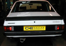 FORD ESCORT MK2 STAINLESS STEEL CUSTOM BUILT EXHAUST SYSTEM SINGLE TAIL PIPE