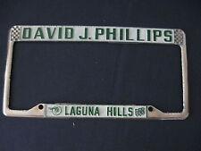 DAVID J. PHILLIPS PONTIAC LAGUNA HILLS CA.   License Plate Frame   Embossed