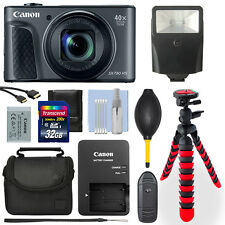 Canon PowerShot SX730 20.3MP Digital Camera Black+ 32GB Deluxe Accessory Package