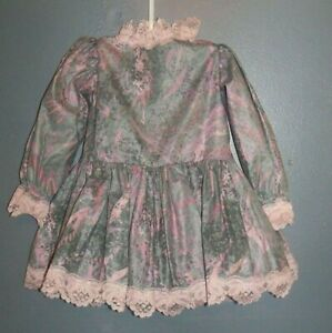 Handmade, Babies vintage dress and long bloomers, age 6 months