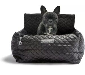 Luxury Black Dog Cat Bed Car Seat ~Pet Travel Safety ~Seatbelt Secure New Nandog