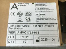 Armstrong Patient Breathing Circuit for Ventilator, 1.8m with filter, qty 10