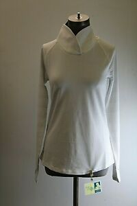 NEW Under Armour Womens XS Gray/White Stripe Long Sleeve Zinger Pullover NWT