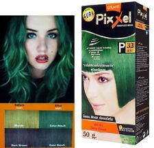 Lolane Pixxel Hair Permanent Dye Color Cream Green Color Shade P33: Deep green