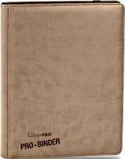 Tan Premium Ultra Pro 9 Pocket 20 Page 360 Card Binder NEW MAGIC POKEMON YUGIOH
