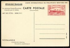 FRANCE 1939 SS NORMANDIE Picture Postal Card HG135