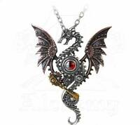 Blast Furnace Behemoth Pendant - Alchemy Gothic Steampunk Dragon Jewellery P737
