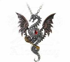 Blast Furnace Behemoth Pendant - Alchemy Gothic Steampunk Dragon Jewellery P737