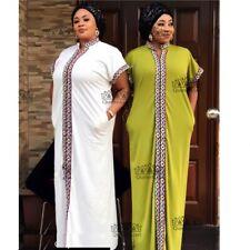 Traditional African Long Dress Bazin Clothing Women Print Loose Dashiki Dress