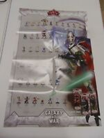 STAR WARS MINIATURE GAME WOTC GALAXY AT WAR DOUBLE SIDED SET POSTER  GM1167