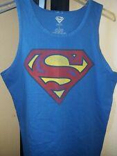 Superman Classic Logo Adult Royal Tank Top Medium