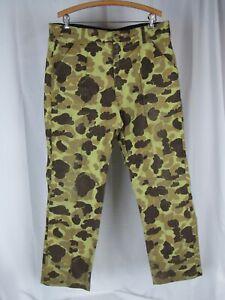 Vtg Cabelas Duck Hunter Camouflage USA Made Goretex 36x31 Pants VTG Camo