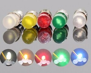 10x 12V E5 LES LED Yellow/Amber Screw Light Bulbs Ikea Stranne Lamp Compatible