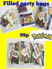 POKEMON party bags, pre filled ,birthday sweets toys, puzzle, tattoo boys, girls