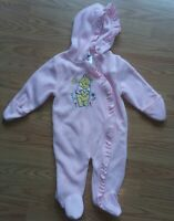 Baby Girls Pink 6-9M Winnie The Pooh Footed Fleece Outerwear One Peice Suit