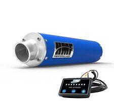 HMF Performance Slip On Exhaust Pipe Blue + EFI Optimizer Yamaha YFZ 450R / X