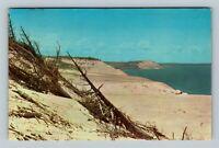 Glen Arbor MI Sleeping Bear Sand Dune USA Largest Dune Chrome Michigan Postcard
