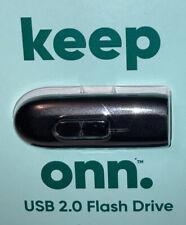 Onn. USB 2.0 64 GB Flash Drive 10 MB Read 24,000 8 MP Pics or 260 min HD PC MAC