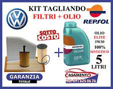 KIT TAGLIANDO VW PASSAT 1.9 2.0 TDi 4 FILTRI + 5 LITRI OLIO REPSOL 5W30