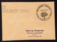 █ Postsache Absender Postamt NEUSTADT du 02/10/43 █