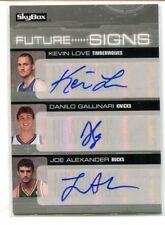 2008-09 Skybox Future Signs Triple Auto Kevin Love Gallinari Alexander 10/10 NM+