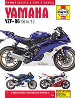 2006-2013 Yamaha YZF R6 HAYNES SERVICE & REPAIR MANUAL 5544