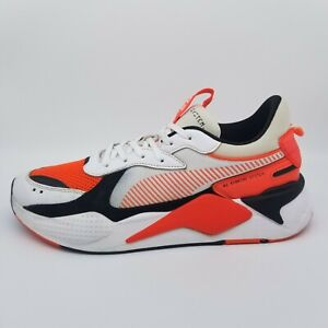 Puma RS X Reinvention 369579-02 White Red Blast Athletic Shoe Mens US Size 12