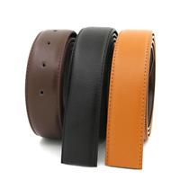 New Replacement Belt H Belt Men's Reversible Split Leather Belt Strap (No Buckle