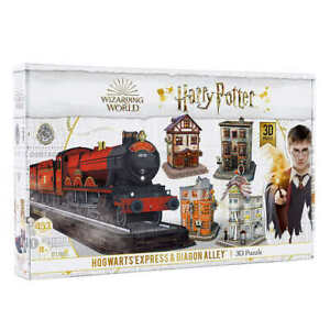 New Hogwarts Express  & Diagon Alley Wizarding World 3D Puzzle – 453 Pcs Large