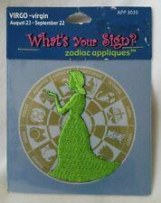 Zodiac Embroidered Applique Patch Virgo The Virgin Green August 23 September 22