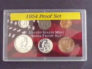 1954 US Proof 5 Coin Set With Copper Treasury Token