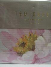 Ted Baker London Butterscotch Seaglass Aqua Pink Floral 3pc Duvet Set - King
