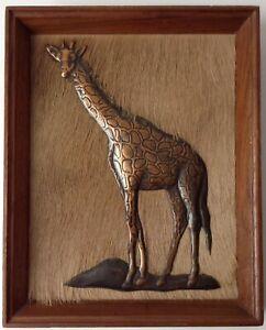 Dennis Thomson Copper Giraffe 3D Picture Vintage 60s