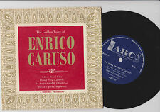 """The golden voice of ENRICO CARUSO  ~ 1963 7"""" EP (ARC 37) Scarce on 7"""""""