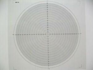 Optical Comparator Chart For Profile Projector Overlay Chart NO 13