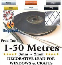 3mm 2mm Self adhesive lead strip window lead glass crafts 2 strand REGALEAD