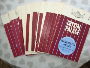 Full season of Crystal Palace 1969-70 home programmes - 27 programmes in all