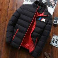 Winter men's jacket Parka Men's Brand Clothing BMW zipper Winter warm jacket