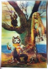 3D Stereo Calendar Soviet Cartoon Movie the Cat Scientist 1990