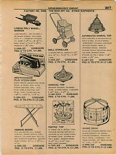 1961 ADVERT 3 PG Ohio Srt Co Toy Musical Choral Top Drum Tea Set Etch A Scetch