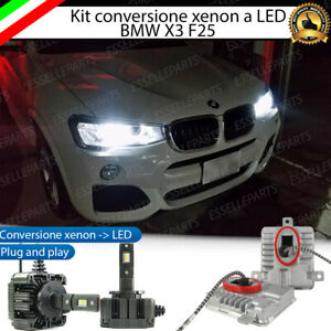 KIT LED D1S CONVERSIONE XENON A LED BMW X3 F25 6000K BIANCO CANBUS 12000 LUMEN