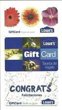 Lot (3) Different Lowes Gift Cards No $ Value Collectible