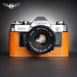 Camera Half Case For Canon AE1 A-1 AE-1P Real Leather Retro Insert TP Handmade