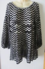 Missoni Dress Tunic Top Sweater Zigzag Black White, size 44, AUS 12-14