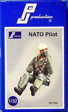 PJ Production 321102 1//32 moderne de l/'OTAN pilote assis en avion résine Figure