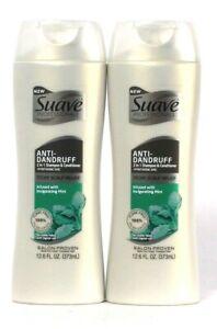 2 Suave Professionals 12.6 Oz Anti-Dandruff Mint 2 In 1 Shampoo & Conditioner